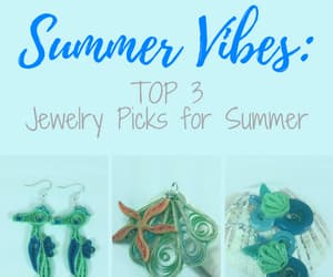 handmade jewelry, seashell jewelry, and summer style image