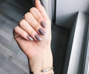 acrylics, gel, and grey image