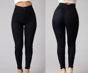 high waist, jeans, and pants image