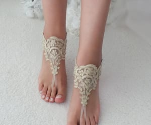beach party, bohemian, and bridal shoes image