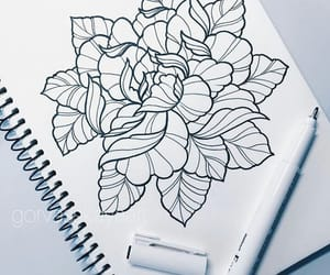 art, flowers, and geometry image