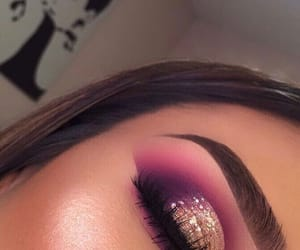 eyeshadow, glam, and makeup image