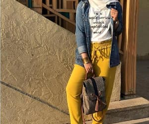 bow pants, tie pants, and dressy pants hijab image