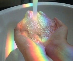 rainbow, water, and aesthetic image