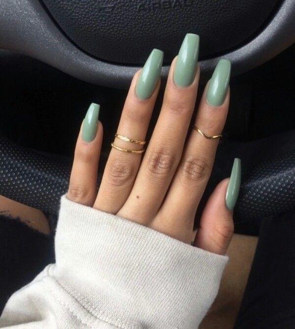 gold, green, and nail art image