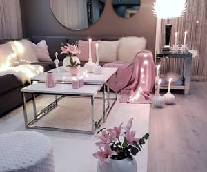 decor, pink, and white image