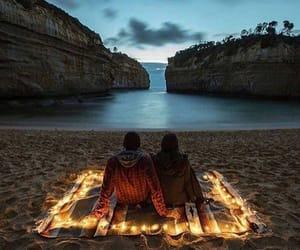 couple, beach, and light image