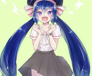 blue hair, otomachi una, and girl image