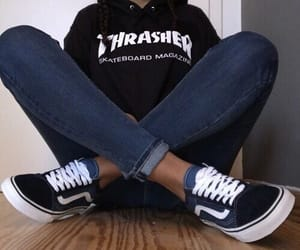 vans, thrasher, and style image
