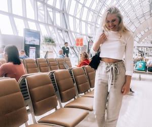 airplane, bangkok, and blonde image