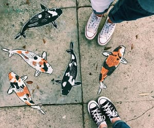 art, fish, and street image