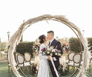 arch, bride, and flowers image