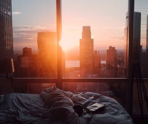 amazing, city, and bed image