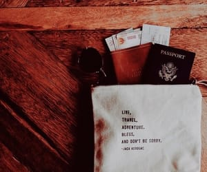 airport, passport, and quotes image