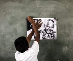 child, photography, and nelson mandela image