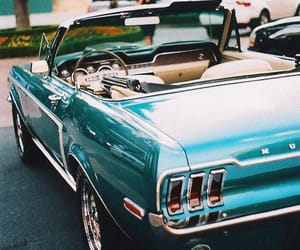 car, blue, and mustang image