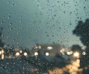 background, city, and rain image