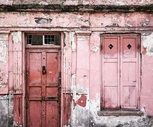 doors, pink, and vintage image