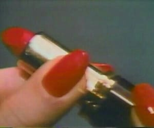 red, lipstick, and vintage image