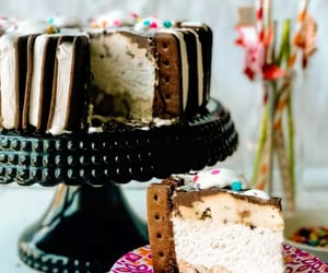 cake, ice cream, and recipe image