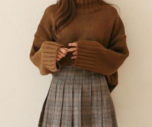 fashion, skirt, and autumn image