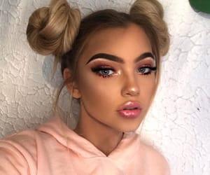 eyebrows, eyeshadow, and cute image