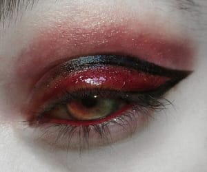 eye, grunge, and red image