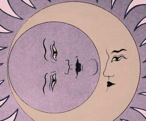 moon, sun, and purple image