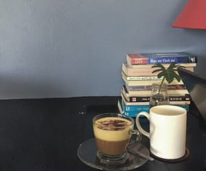 blue, coffe, and book image