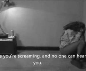 sad, alone, and screaming image