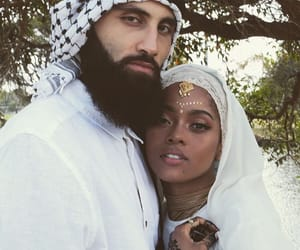 black, couple, and muslim image