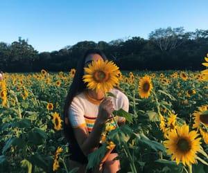 yellow, girls, and nature image