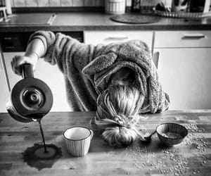 coffee, morning, and woman image