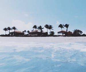 beach, ocean, and teal image