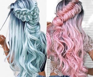 hair, hairstyles, and long hair image