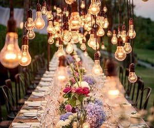 flower, light, and dinner image