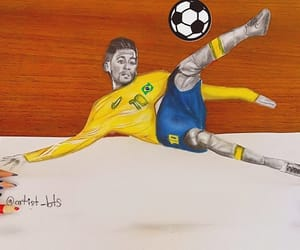 art, brazil, and neymar image