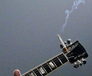 aesthetic, cigarette, and guitar image