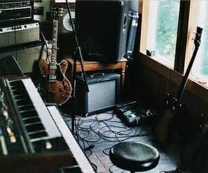 guitar, music, and keyboard image