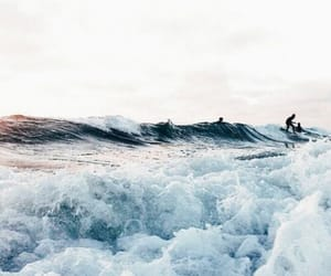 aesthetic, waves, and beach image