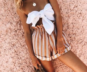 beach, outfit, and short image