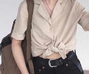 aesthetic, asian fashion, and beige image