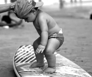 baby, cute, and surf image