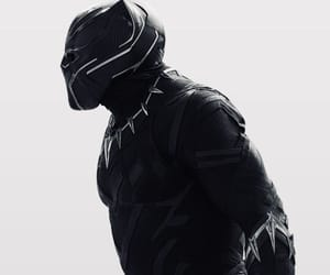 black panther, Marvel, and black image