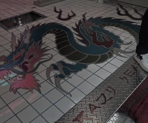 aesthetic, red, and dragon image