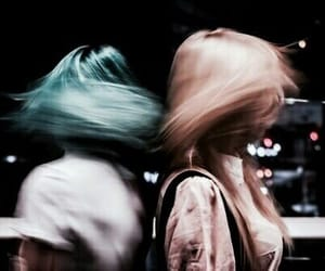 girls, hair, and blue image