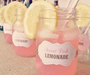 lemonade, limonada rosa, and pink image