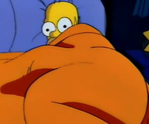 homer, sleepy, and the simpsons image