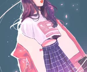 kpop, drawing, and loona image