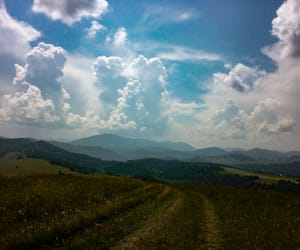 clouds, siberia, and mountains image